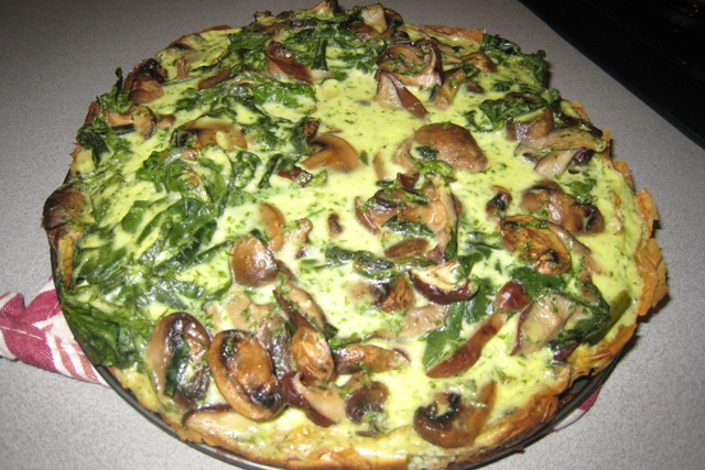 Meat Free Monday: Mushroom, Spinach, and Scallion Tart – Everyday ...