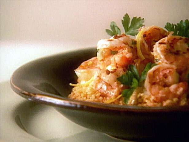 scampi on couscous
