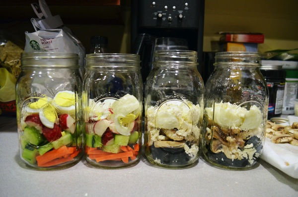 Mason Jar Salads Layers 2