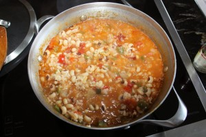 vegetarian hoppin john simmering